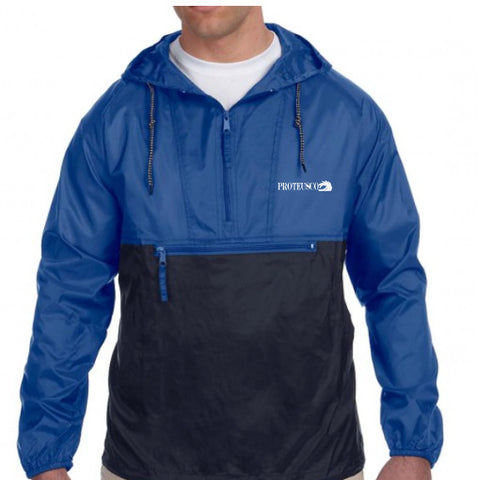 Blue/Black Windbreaker
