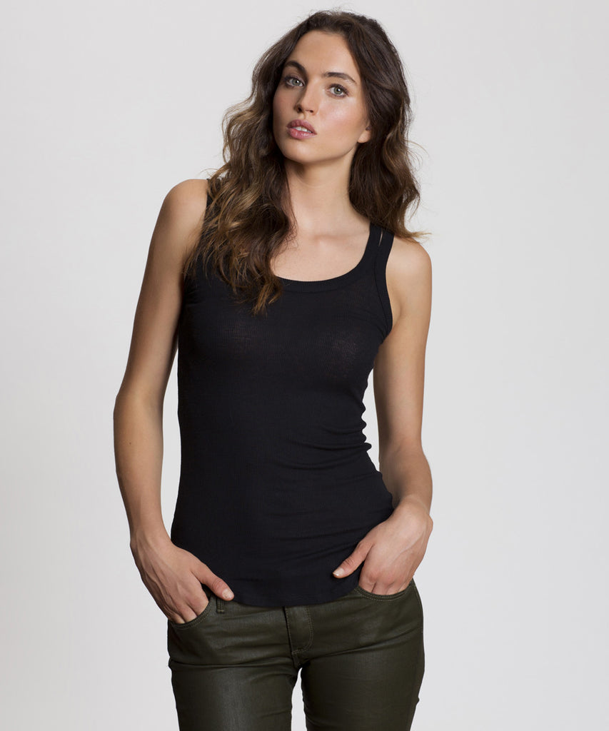Black Double Strap Cami