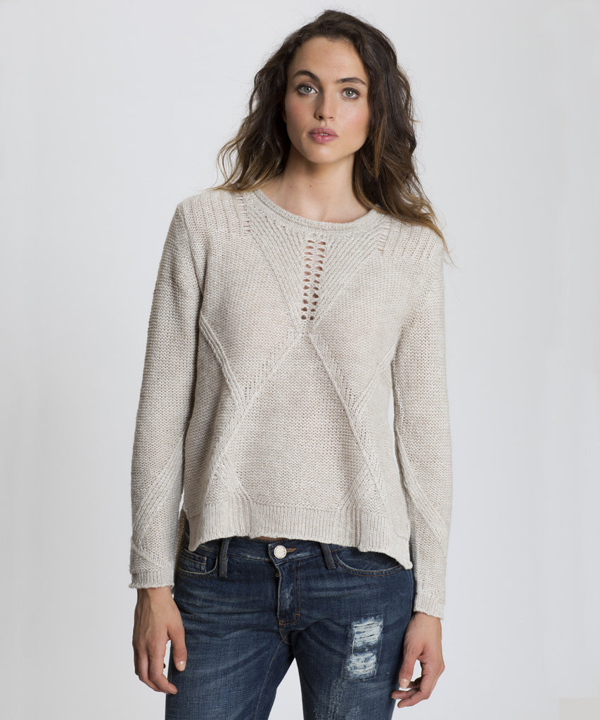 Oatmeal Zip-Up Sweater