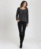 Black/Ivory twist Sweater