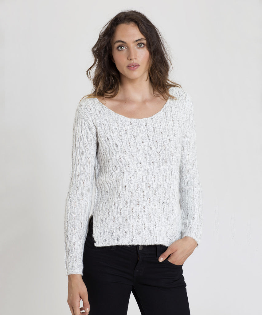 Ivory/black twist Sweater