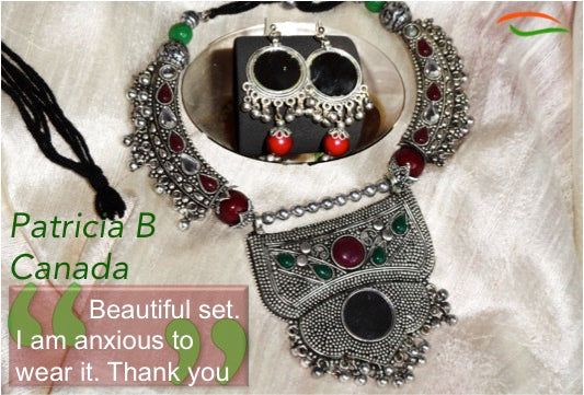 necklace and ear ring set from india artikrti customer review