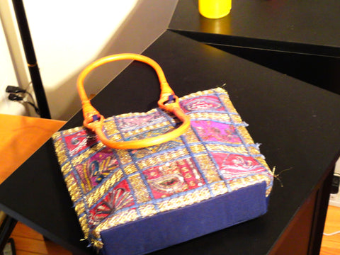 indian laptop bag or iPad bag and handbag sequins from Artikrti