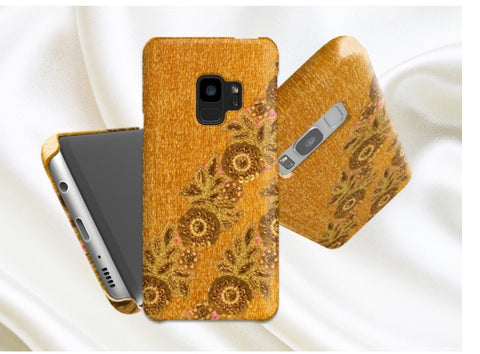 samsung galaxy s9 phone case yellow gold artikrti1