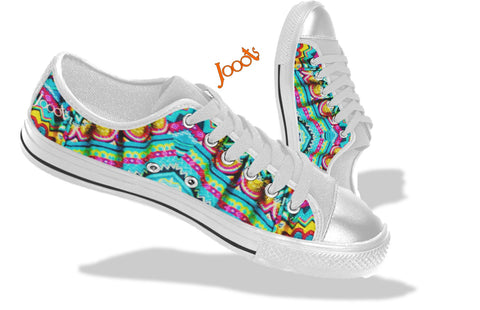 Girls' Low tops. Keds turquoise yellow. Indian design. Batik Crystals . Jooots from Artikrti