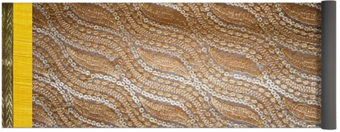 Yoga Mat Beige sequin embroidery design artikrti1