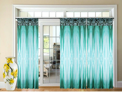 "Drapes, Indian curtains. Teal green Drapery- curtains or drapes. Long window curtains ""Colorful Weaves"" from Artikrti"