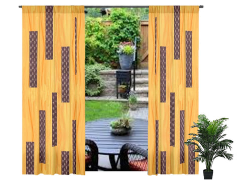 "Drapery- curtains and drapes. French Window curtains. Indian design- ""Rumani"". From Artikrti."