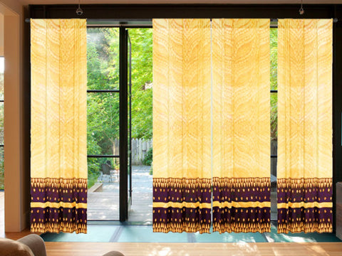 "Living room curtains. Beige window curtains or drapes. Indian curtains ""Sequins in Flight"" from Artikrti"