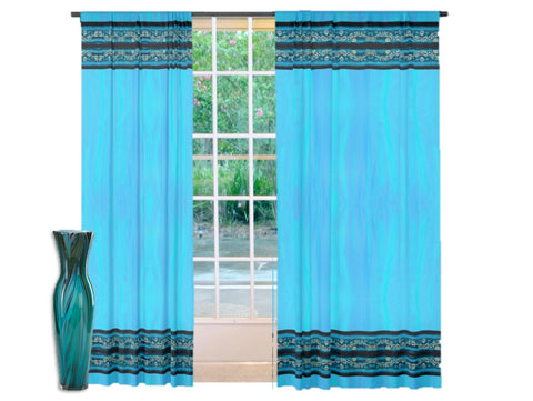 Decorative living room drapes. Home decor idea- floral Indian curtains. Artikrti.