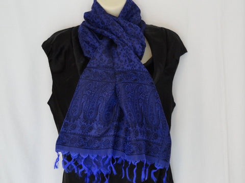 Ethnic, indian, silk scarf, Indian Silk shawl. Ink blue, hand woven silk scarf, shawl. Indian chic. Ethnic Shawl. From Artikrti