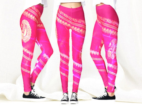 Yoga pants or dance tights pink artikrti Jiya or Sweetheart1
