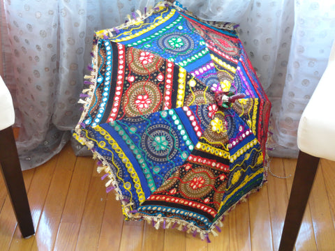 Multi-color dining table lamp shade. Colorful Ethnic embroidered ceiling lampshade decor ornament. Ethnic decor idea. From Artikrti