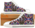 "Sneakers for teens, college girls. High tops. Canvas keds multi color, batik style design. ""Color Bites"" . Jooots from Artikrti"
