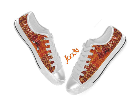 Cool new kicks for girls. Low tops, sneakers.  Orange Red keds. Indian design  canvas shoes. Lace 'n Sequins . Jooots from Artikrti