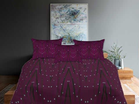 "Christmas comforter queen. Wine bed in a bag. King comforter with matching pillow covers. ""Star Lights"". Artikrti."