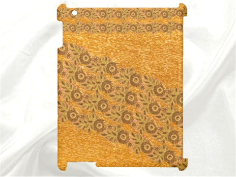 "Women's iPad tablet yellow case or cover. Ethnic, classy, sleek Indian design-""Alphonso Lace"". From Artkrti."