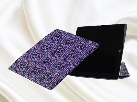 i Pad Pro protective case and stand for women- purple, pretty , Indian  design. From Artkrti.