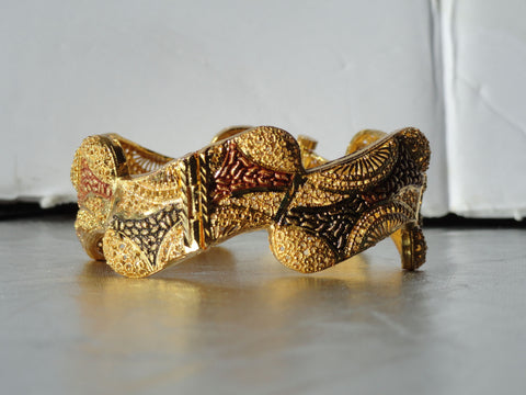 Indian broad bracelet bangle. Bridal Indian Jewelry. Statement bracelet Minakari. Ethnic Indian bangle. From Artikrti.