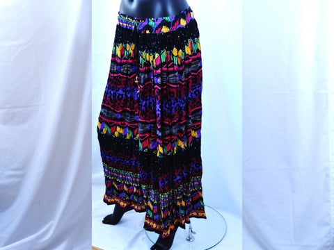 crushed indian skirt multi color purple artikrti7