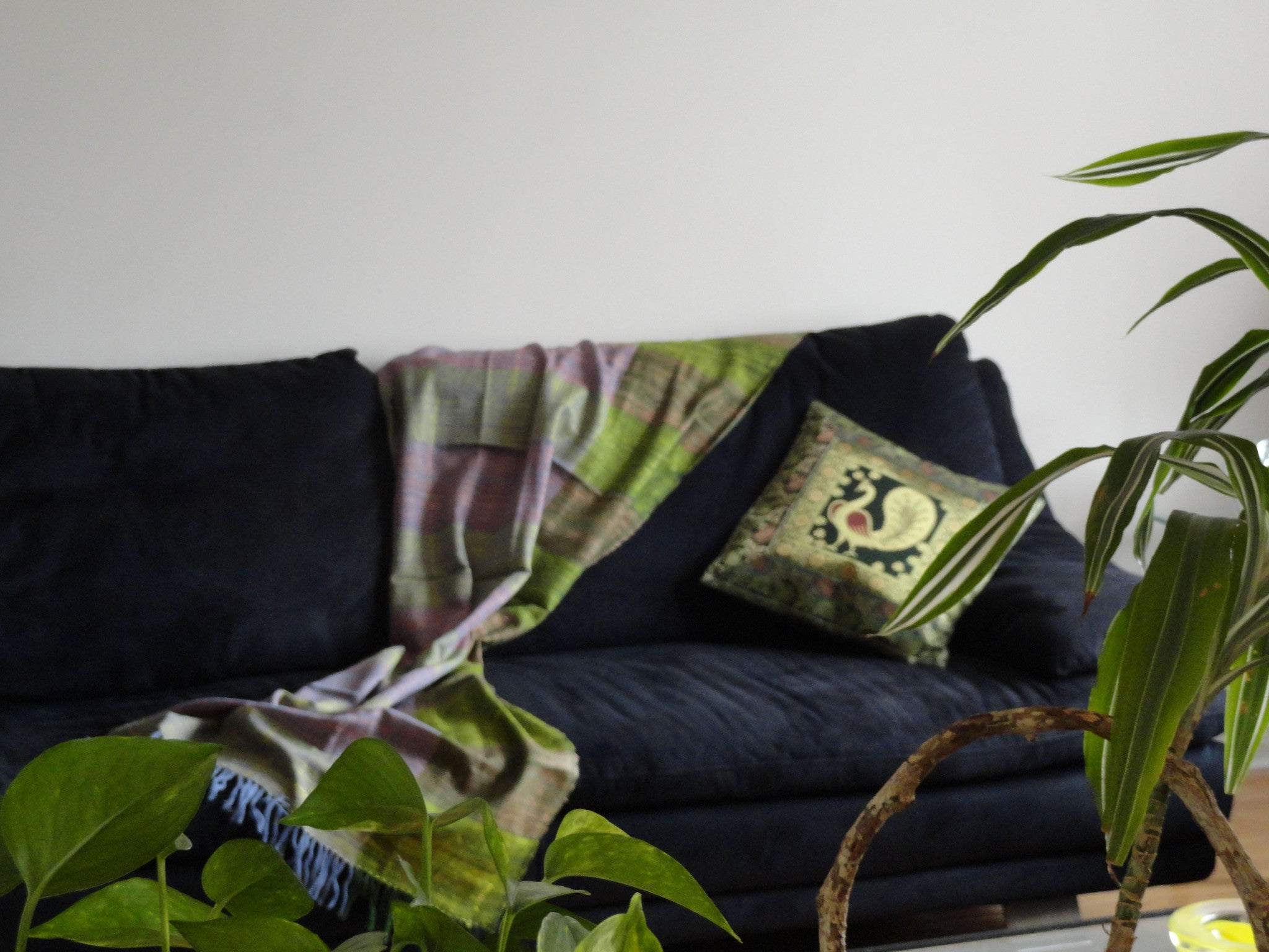 Silk sofa cushion cover from India. Peacock embroidered throw pillow. Green Gold ethnic cushion & Silk sofa throw pillow cover set from India. Patchwork cushion ... pillowsntoast.com