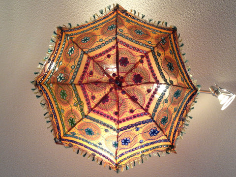 Ethnic decor idea: family room lampshade. Dining table lamp shade. Colorful Ethnic embroidered ceiling lampshade decor ornament. . From Artikrti