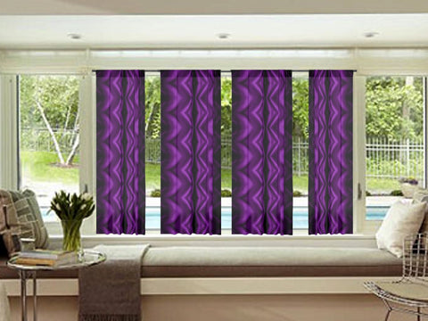 "Indian curtains. Living room drapes. French Window curtains- deep purple. ""Urvashi"" from Artikrti."