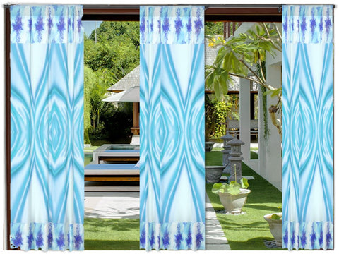 "Sky Blue Indian curtains or drapes for living room. Ethnic home decor idea. ""Neel Maalai"" from Artikrti."