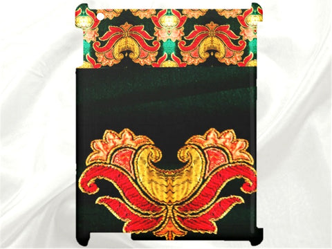 "Apple iPad and iPad Mini hard shell case. Women's, ethnic, arty, Indian design-""Dancing Petals"". From Artkrti."