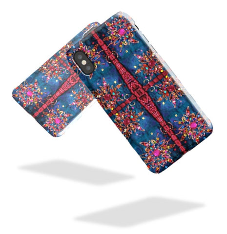 iPhone 8  case-Indian design. Boho, Bollywood style iPhone X case or cover. Tough Shield cover case for iPhone 7, 6. From Artkrti.