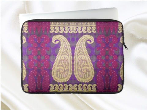 laptop bag MacBook sleeve purple Indian artikrti1