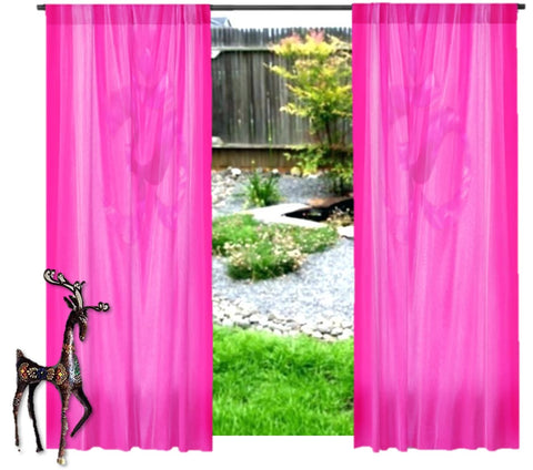 "Indian Om or AUM curtains. French window drapes. Yoga room curtains.  ""Touch of Om"" from Artikrti"
