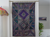 "Embroidery and patchwork wall decor.- ""Emerald Wink"". Fabric Wall Tapestry.  Indian ethnic wall tapestry. Artikrti"