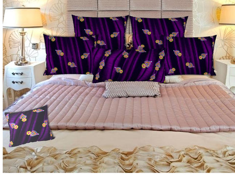 "Bedroom pillow shams or covers-purple, blue. Matching cushion covers. ""Diwali"" by Artikrti."