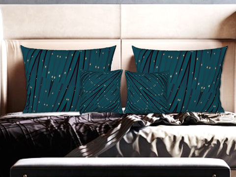 "Christmas Green Pillow covers/shams. Matching cushion covers. ""StarLights"" by Artikrti."