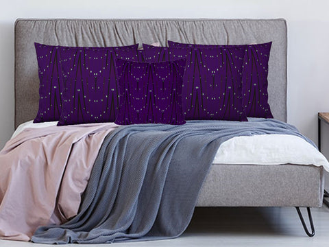 "Home decoration- Purple Pillow covers/shams. Matching cushion covers. ""StarLights"" by Artikrti."