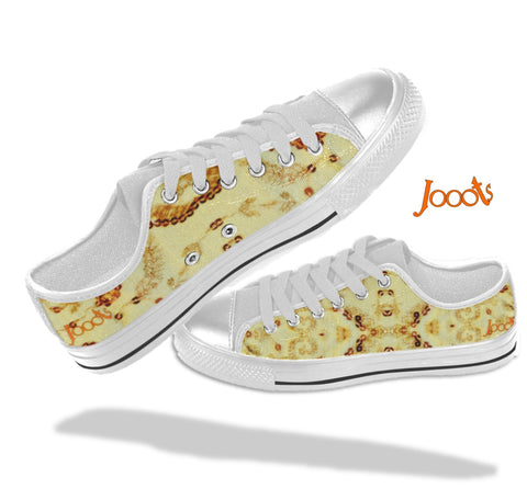 Pretty canvas casual shoes for girls. Low tops gold keds. Indian design. Sequin Glam . Jooots from Artikrti