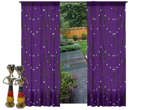 "Curtain store- purple curtains or drapes. Unique design style for the living room. ""Star Lights"" from Artikrti"