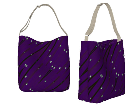 Gym tote for girls. Three types- basic tote, origami tote and day tote. Purple. Artikrti