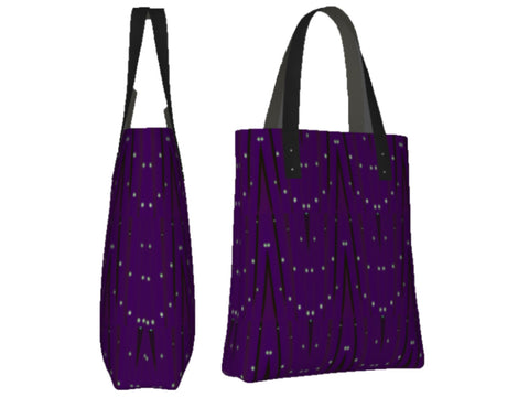 Classy grocery tote for women. Three types- basic tote, origami tote and day tote. Purple. Artikrti