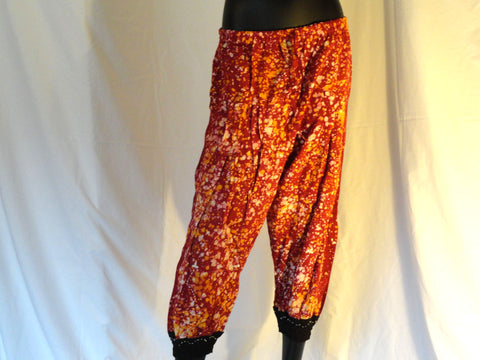 Women's Yoga Pants, Alibaba Baggy Pants, Meditation, Maternity pant, Lounge wear, tai chi pants,  Yoga legging, Red Cotton Capri Yoga trousers, Harem Pants, Casual women's pant, boho clothing, Maxi, Baggy Gypsy Pants. ComfyCottons from Aritkrti.