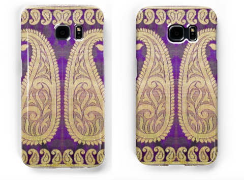 Samsung Galaxy S8 phone case. Indian design, ethnic, arty Samsung phone cover. Tough case for Samsung phones S7, S6, Edge. From Artkrti.