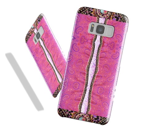 Samsung Galaxy S8 case for women. Ethnic, Indian design. Tough Shield cover case for Samsung phones S7, S6, Edge. From Artkrti.