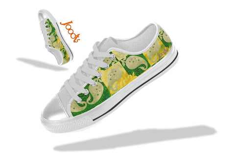 Low tops for college girls. Keds neon green yellow. Indian design. Mango Mosaic . Jooots from Artikrti