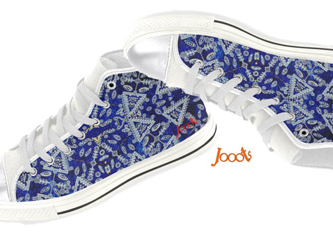 "Cute sneakers with ethnic Indian henna designs. Unique keds, sneakers for girls- navy blue. ""Cupid's Arrow"". Jooots from Artikrti"