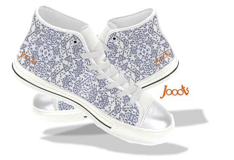 "Cute sneakers with ethnic Indian henna designs. Unique keds, sneakers for girls- white. ""Cupid's Arrow"". Jooots from Artikrti"