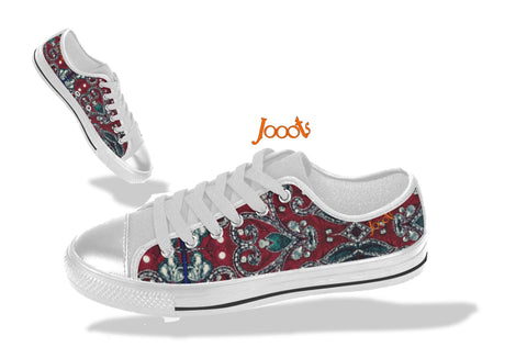 "Sneakers for teenagers- cool sequin design. Low tops burgundy green keds for girls. Indian design- ""Sequin Love"" . Jooots from Artikrti"