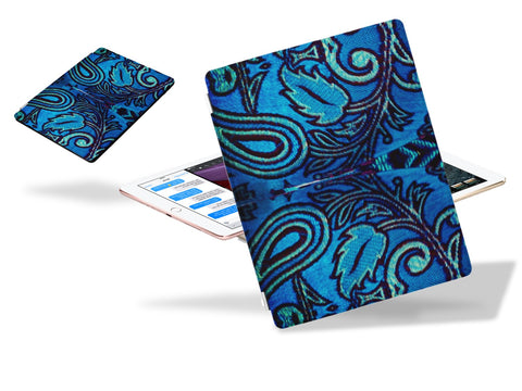 "iPad Pro cover and stand. iPad case or sleeve. Artistic turquoise design for girls. ""Kalavati"". From Artikrti"