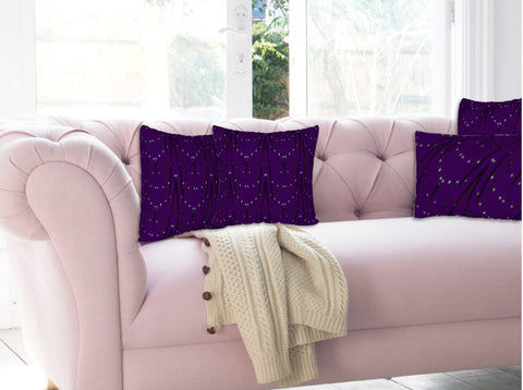 "Purple throw cushion covers. Home decoration. Matching pillow covers. ""StarLights"" by Artikrti."