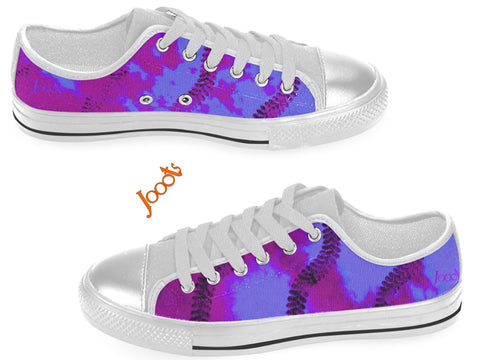 "Colorful sneakers for women. Low tops purple violet keds. Indian design- ""Holi"" . Jooots from Artikrti"